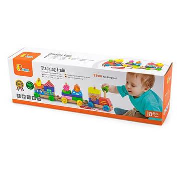 "Іграшка-каталка Viga Toys ""Паровозик"" (50089) (SV)"