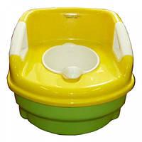 Детский горшок Geoby P600 желтый с зеленым