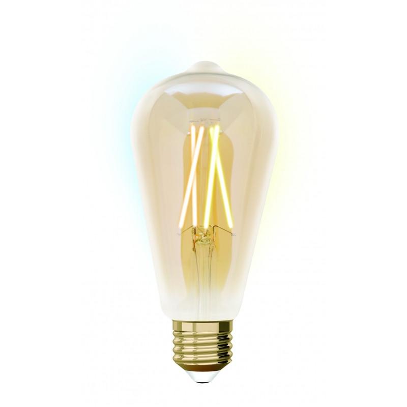 Светодиодная ретро лампа филамент 9W E27 ST64  iDual