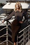 Свободная блузка в горошек черная, фото 4
