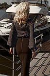 Свободная блузка в горошек черная, фото 5