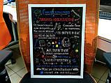 Постер на холсте учителю младших классов (черный фон), фото 3