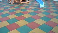 Резиновая плитка  для травмобезопасности детей.