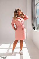 Повсякденне плаття-сорочка з відкладним коміром і рядом кнопок попереду з 52 по 58 розмір, фото 4