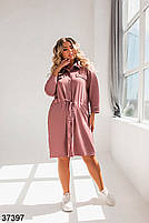 Повсякденне плаття-сорочка з відкладним коміром і рядом кнопок попереду з 52 по 58 розмір, фото 3
