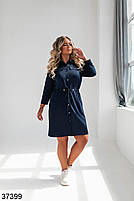 Повсякденне плаття-сорочка з відкладним коміром і рядом кнопок попереду з 52 по 58 розмір, фото 6