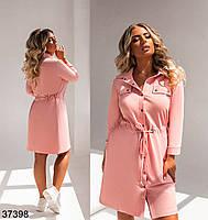 Повсякденне плаття-сорочка з відкладним коміром і рядом кнопок попереду з 52 по 58 розмір, фото 5