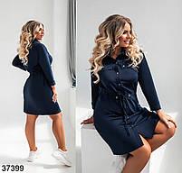 Повсякденне плаття-сорочка з відкладним коміром і рядом кнопок попереду з 52 по 58 розмір, фото 7