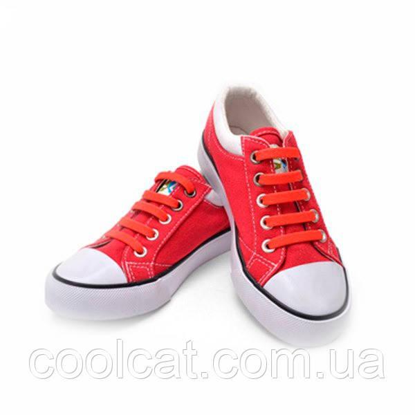 Силиконовые шнурки Красные