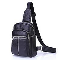 Мужская сумка из натуральной кожи через плечо, фото 1