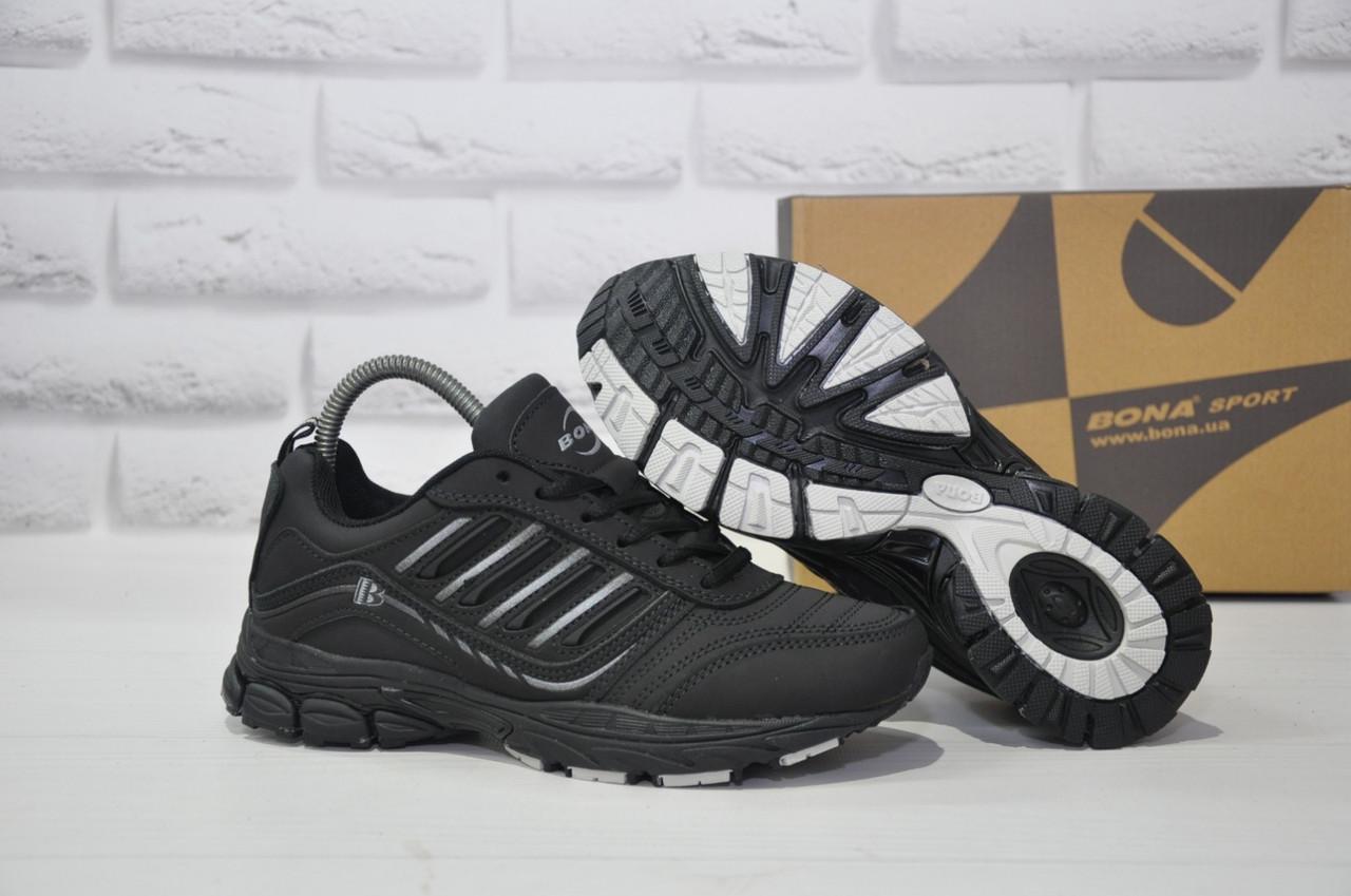 Підліткові чорні кросівки натуральний нубук BONA (розміри в наявності:36-41)