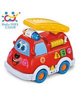 Музыкальная пожарная машина Huile Toys, игрушка пожарная машина