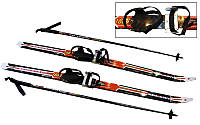 Лыжи беговые в комплекте с палками (l-лыж-90см,l-палок-70см,PVC чехол,крепл.рег.)