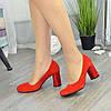 """Жіночі червоні замшеві класичні туфлі на підборах. ТМ """"Maestro"""", фото 4"""