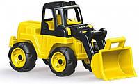 Детская машинка для прогулок Погрузчик-гигант с ковшом DOLU Mega Loader | Детская машинка-каталка
