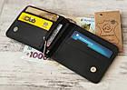 Кожаный зажим для денег GS черного цвета, фото 2