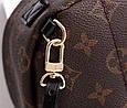 Рюкзак люкс-копия меньший размер Луи Виттон с широкими шлейками / ЛВ (арт. 9001-S) расцветка Монограм, фото 8