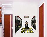 3D Наклейка на стену виниловая GangNam 75х80см., фото 2