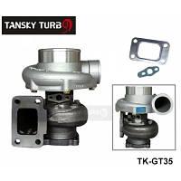 Турбонаддув  GT35 GT3582R Compressor:A/R 0.70 Turbine:A/R 0.82 T3 Flange wet float bearing 4 bolt 400-600hp t