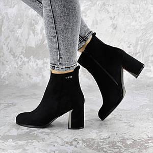 Женские ботильоны на каблуке Fashion Indoor 1416 36 размер 23 см Черный