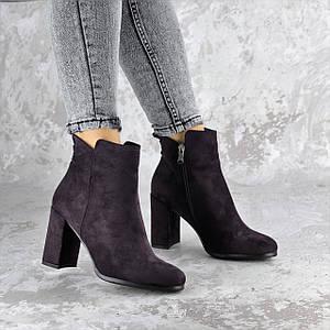 Женские ботильоны на каблуке Fashion Lucky 1428 36 размер 23,5 см Фиолетовый