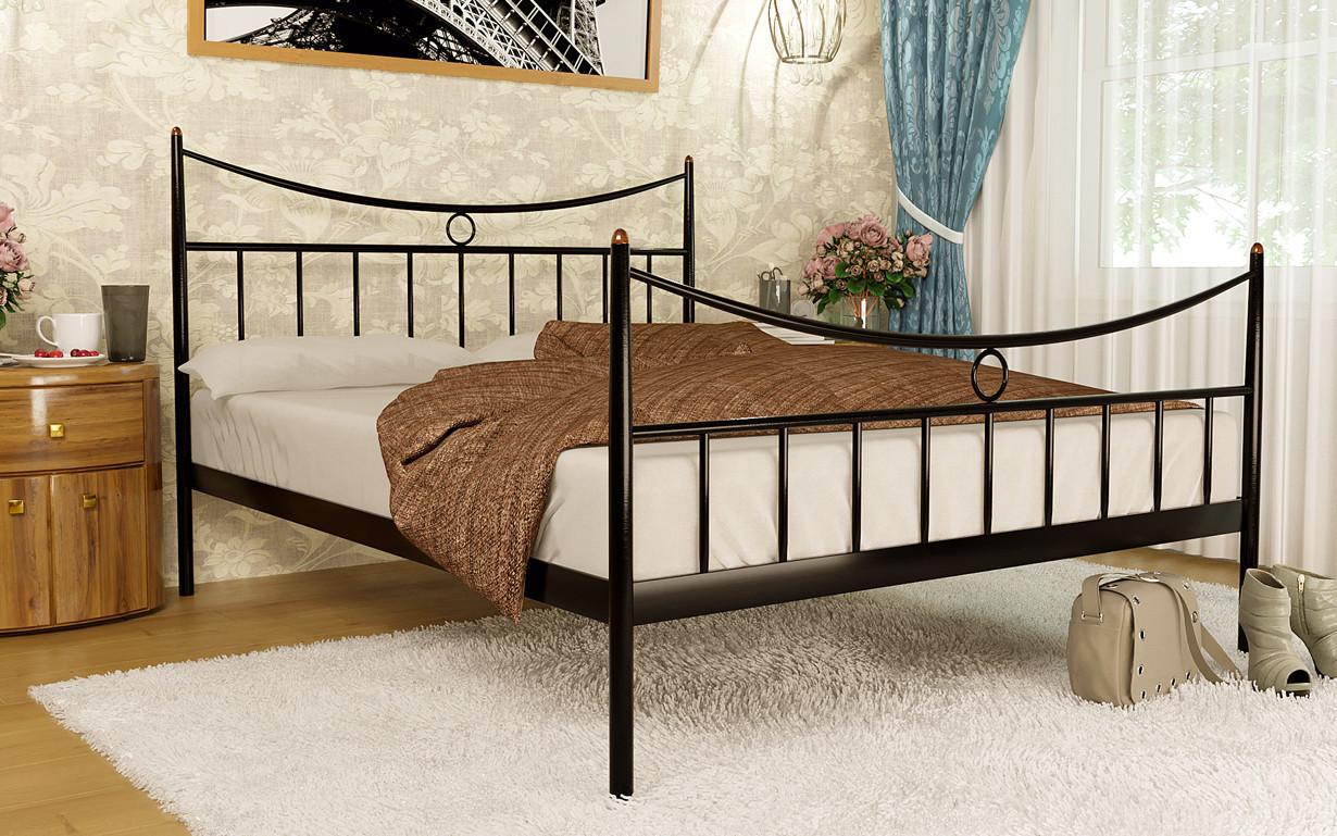 Металлическая кровать Paris-2 (Париж-2) ТМ Метакам с изножьем