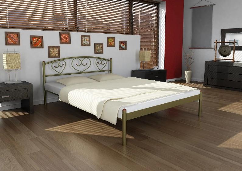 Металлическая кровать  Дарина-2 ( Darina-2) ТМ Метакам с изножьем