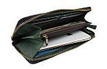 Кошелек мужской кожаный клатч большой travel SULLIVAN  kmk59-2(19.5) зеленый, фото 2