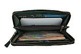 Кошелек мужской кожаный клатч большой travel SULLIVAN  kmk59-2(19.5) зеленый, фото 3