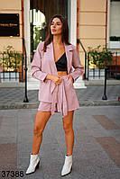 Модный костюм с шортами-бермудами и пиджак без застежки размер 42-46, фото 1