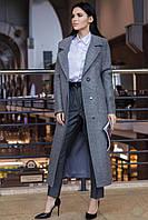 """Пальто молодежное женское полушерсть """"Аризона"""", осень-весна,серый, фото 1"""