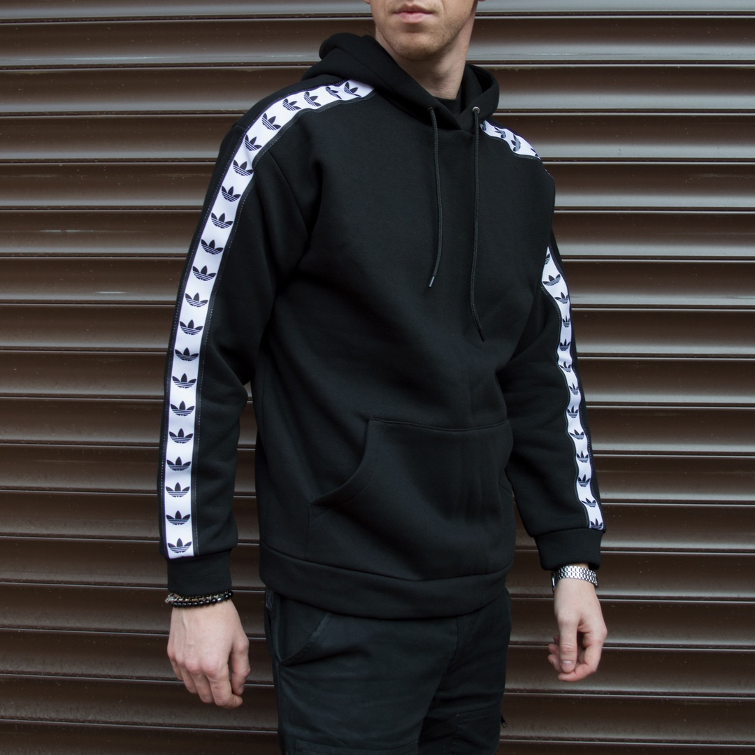 Худі чоловіче з лампасом Адідас (Adidas)