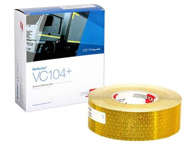Світловідбиваюча стрічка для твердої поверхні Orafol жовта