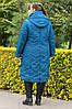 Демисезонная женская куртка со съемным капюшоном  большого размера, фото 3
