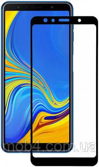 Защитное стекло для Samsung Galaxy (Самсунг) A7 2018 (На весь экран) A750