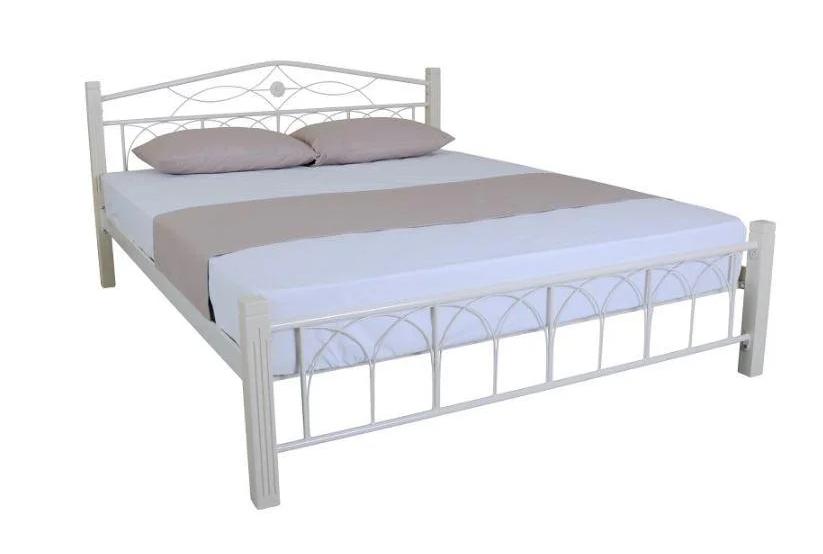Кровать двуспальная металлическая Элизабет с изножьем TM Melbi