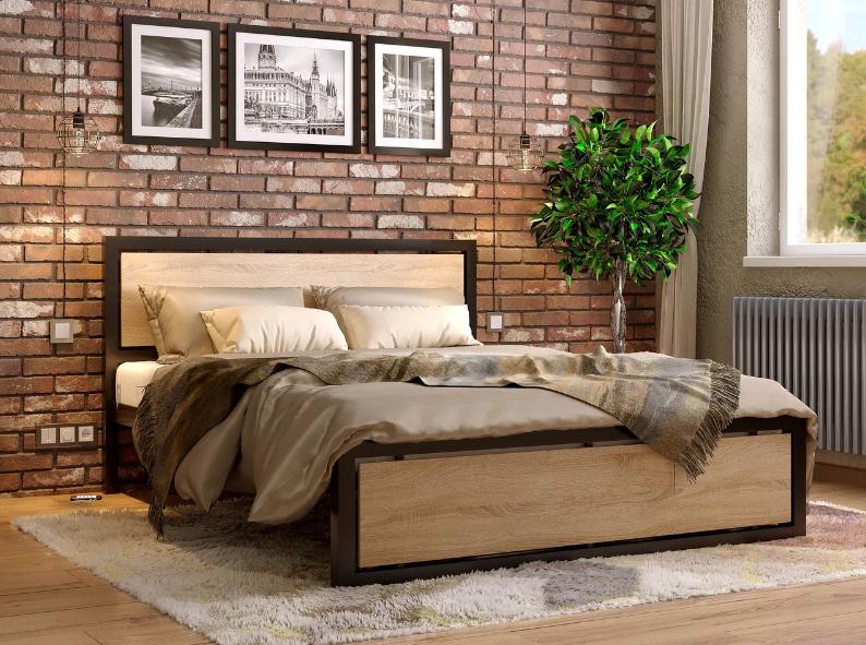 Металлическая кровать Техас ТМ Метакам без изножья