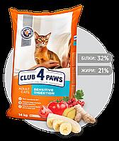 Клуб 4 лапы Премиум Sensitive - корм для кошек с чувствительным пищеварением 14 кг