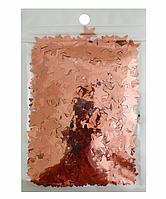 Конфетти звездочки, розовое золото 15мм, 15гр