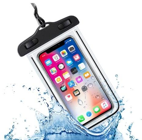 IP68 універсальний водонепроникний чохол для смартфона Чорний