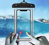 IP68 універсальний водонепроникний чохол для смартфона Чорний, фото 2