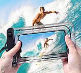 IP68 універсальний водонепроникний чохол для смартфона Чорний, фото 5
