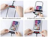 IP68 універсальний водонепроникний чохол для смартфона Чорний, фото 7