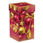 Упаковка праздничная новогодняя из металлизированного картона Ёлочные украшения, до 1кг, от 1 штуки