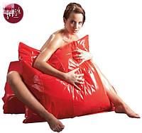 Лаковая наволочка Orgy (красная)
