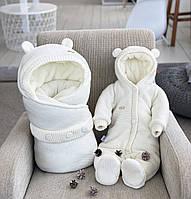 "Зимний набор на выписку ""Мишутка"" NEW, молочный, фото 1"