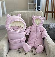 "Зимний набор на выписку ""Мишутка"" NEW, розовый, фото 1"