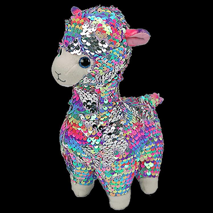 Детская мягкая игрушка в пайетках лама ty 15см (36350)