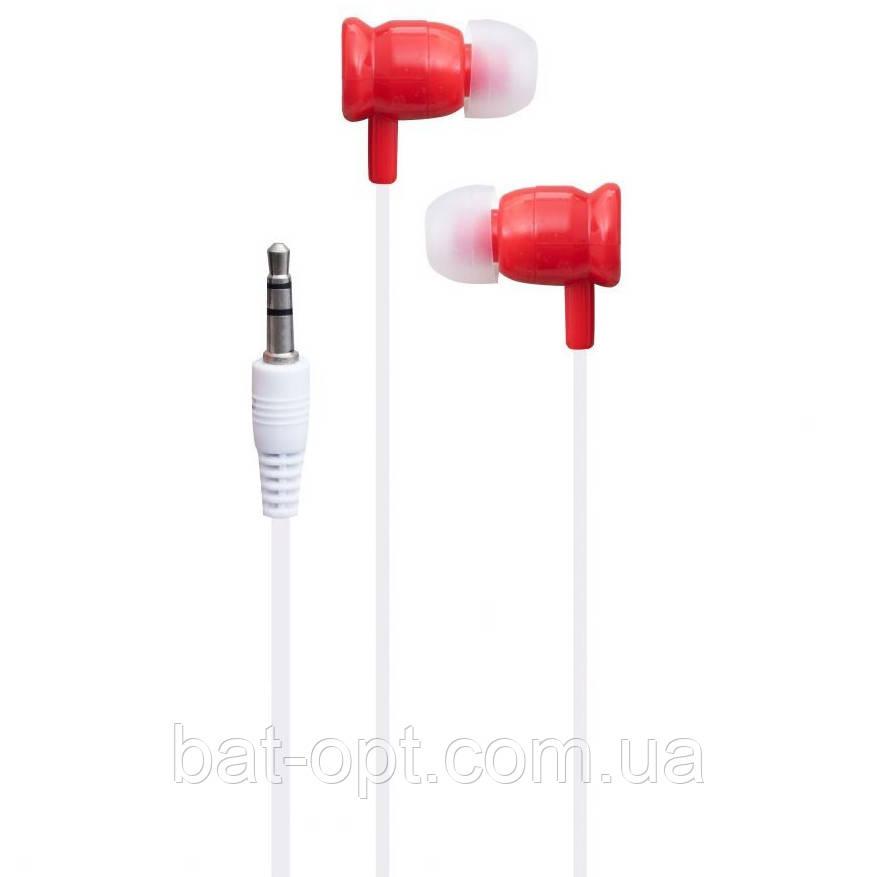 Наушники вакуумные MP3 DB SY-1602 красные (в пакете)