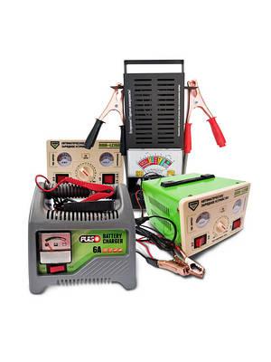Зарядные устройства, тестеры аккумуляторов, пуско-зарядные